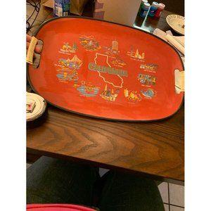 Vintage Fabulous California Serving Tray bar Taver